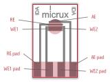 叉指阵列薄膜微电极