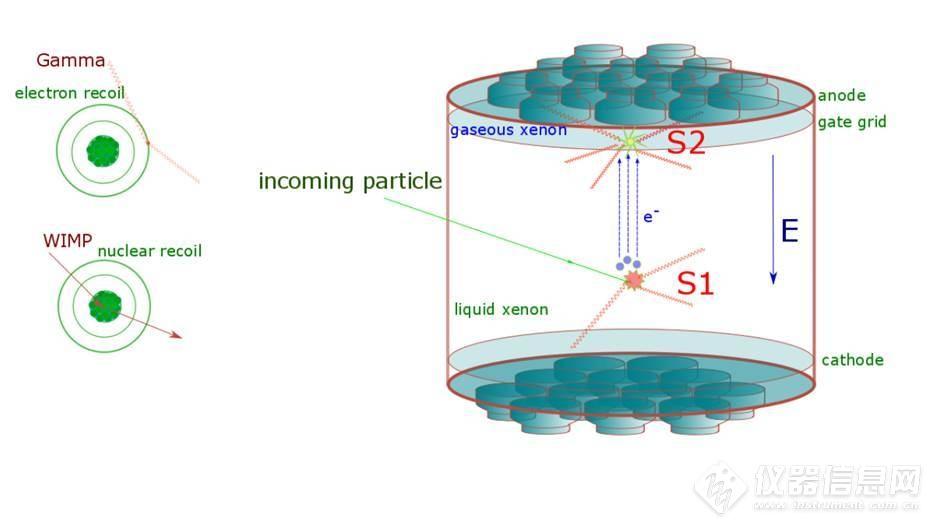 暗物质粒子与氙原子碰撞时得到的一定能量