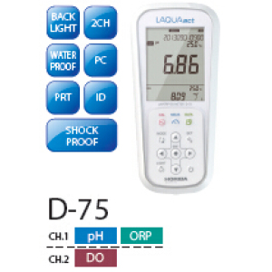 日本HORIBA堀场LAQUAact便携式PH/ORP/DO计D-75