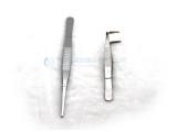 实验镊子尖头镊子弯头镊子木质勺子不锈钢取大中小样勺