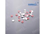 9mm 白色聚四氟乙烯/暗红硅胶垫片 预开口PTFE硅胶垫 样品瓶隔垫