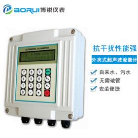 博锐仪表外夹式壁管固定式便携式超声波