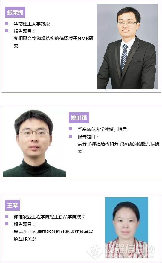 专家介绍:张荣纯,姚叶峰,王琴