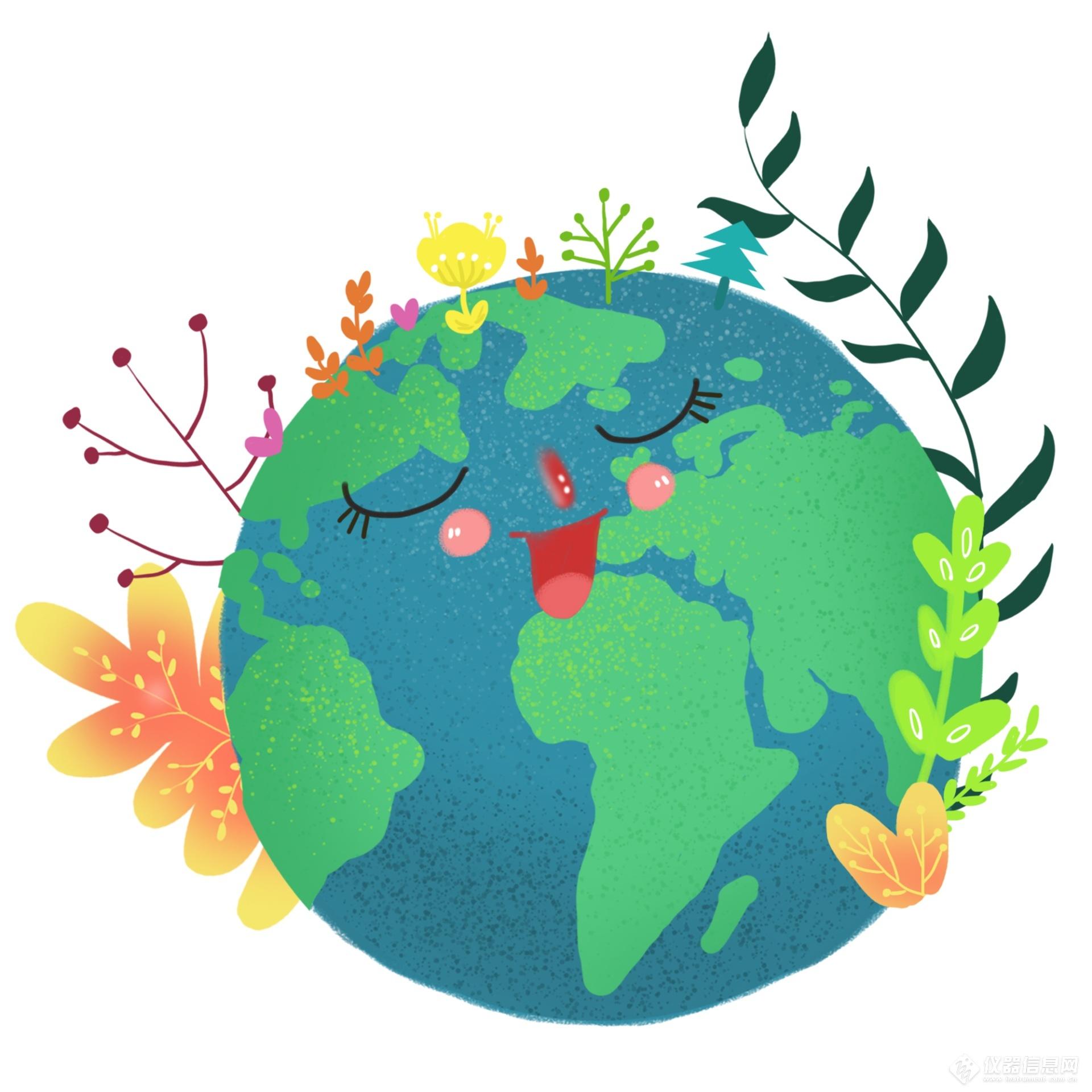卡通绿色世界地球日.png
